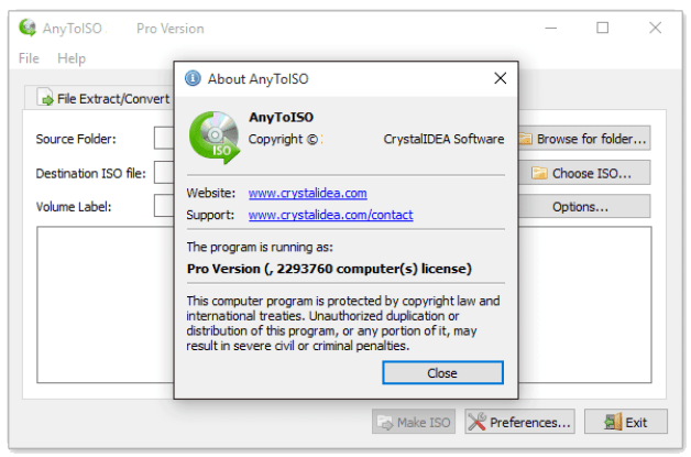 AnyToISO Professional 3.9.6 Build 670 Crack Full Version (Latest)