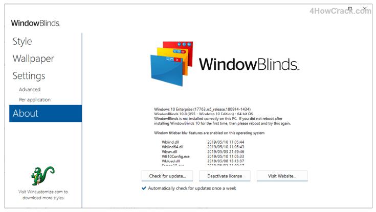 WindowBlinds 10.87 Crack + Product Key Latest Download